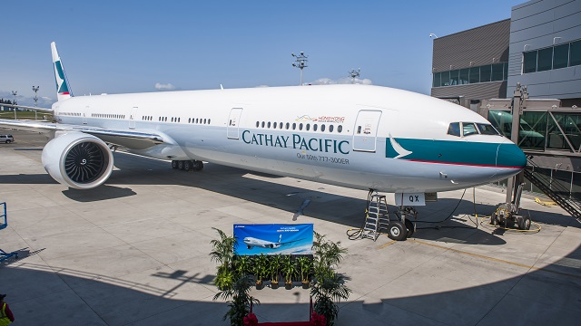 50th Boeing 777-300ER Cathay Pacific