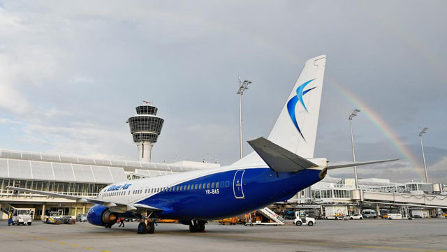 Blue Air Boeing 737 in München