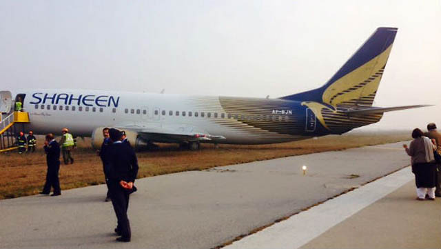 Shaheen Boeing 737 runway excursion