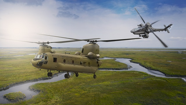 Boeing Chinook and Apache