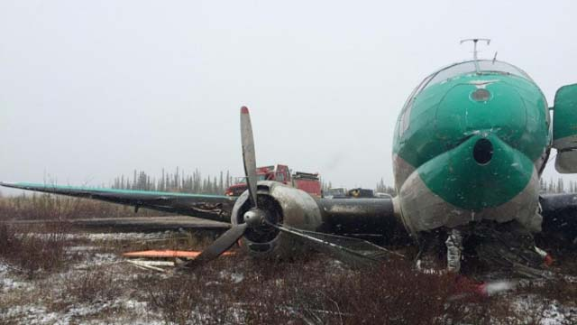C-46 Buffalo Airways Bruchlandung