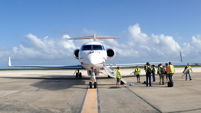 DLR Gulfstream in Barbados