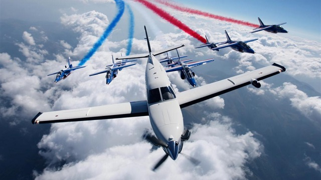 DAHER TBM 930 with Patrouille de France