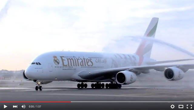Emirates A380 in Real Madrid Look