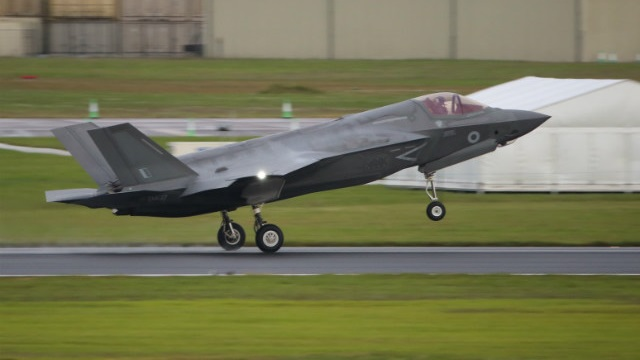 F-35B landet in Fairford
