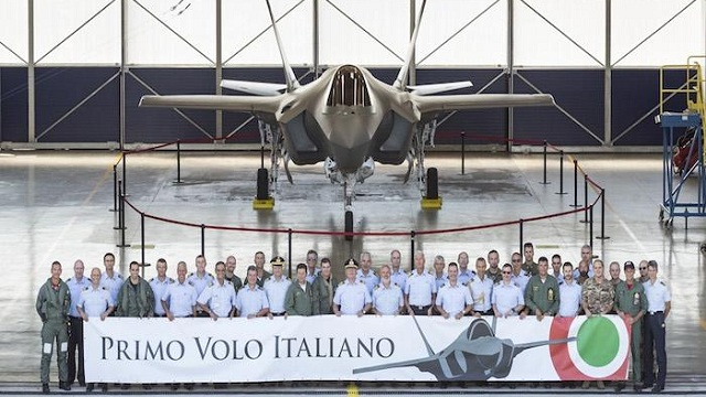 First Flight F-35A Italy