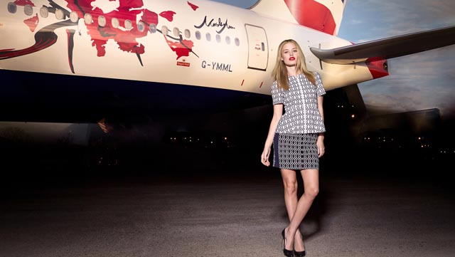 BA Boeing 777 with Georgia May Jagger