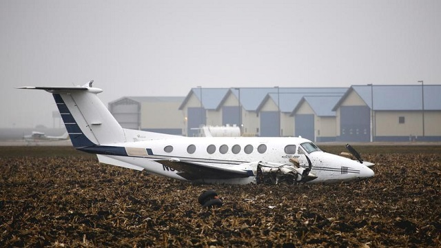 Beechcraft 200 Super King Air Bruchlandung