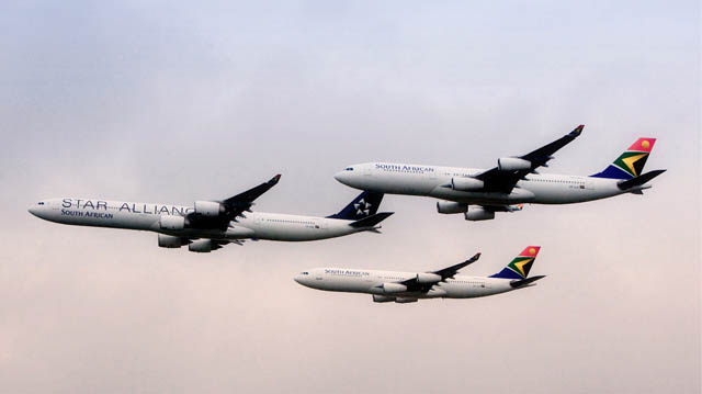 South African Airbus A340 Formation