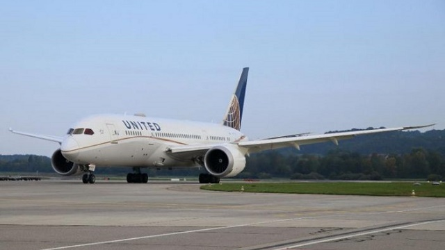 United Airlines Boeing 787 ZRH