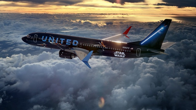 United Star Wars Boeing 737