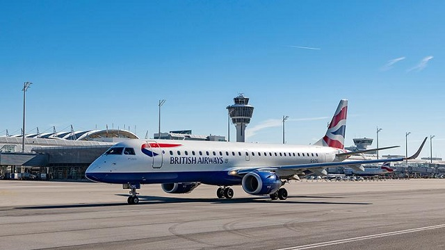 BA City Flyer Embraer 190 in München