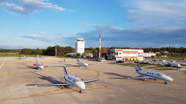 Citation Mustang Meeting in Istrien