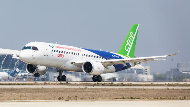 COMAC C919 high speed taxi test