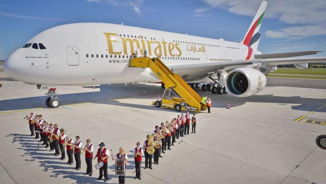 Emirates A380 in Wien