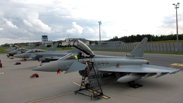 Deutsche Eurofighter auf der Ämari Air Base i