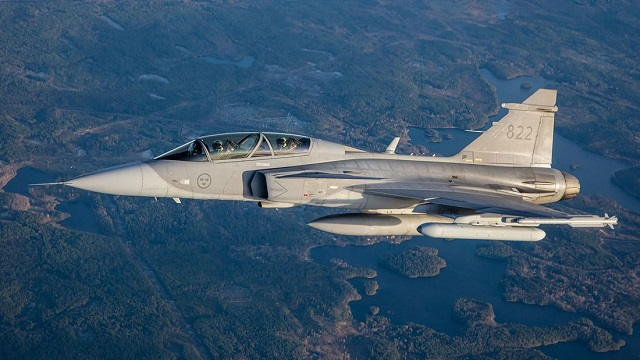 Saab Gripen D Mit Electronic Attack Jammer Po