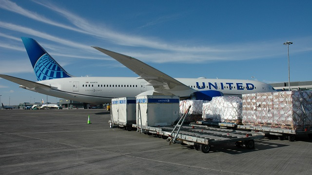 Luftfracht bei United Airlines