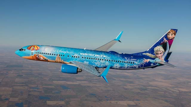 WestJet Boeing 737 Walt Disney World Frozen