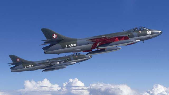 Hawker Hunter Swiss Air Force